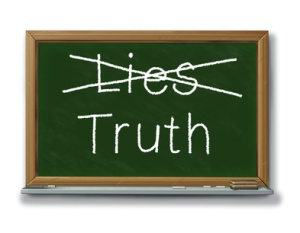 lies truth trust two faced dilema chalk black board