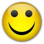 Happy Smiley glassy button
