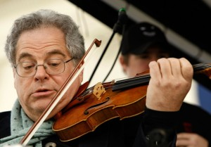 Itzhak Perlman at work