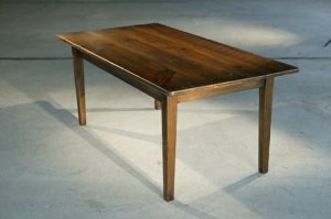 antique walnut dining-table