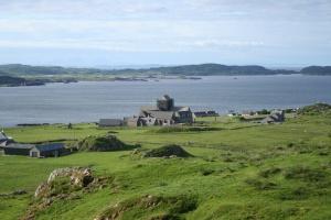 aerial view of Iona Abbey