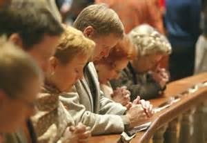 Kneeling for communion 1